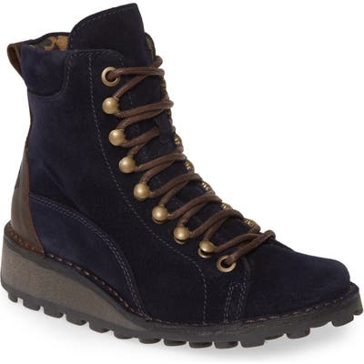 Fly London Malu Moto Boot, Blue