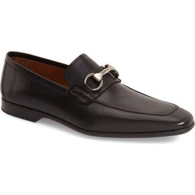 Magnanni Rafa Ii Apron Toe Bit Loafer- Black