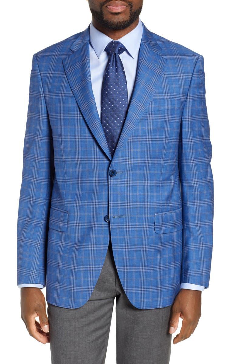 PETER MILLAR Flynn Classic Plaid Wool Sport Coat, Main, color, 400