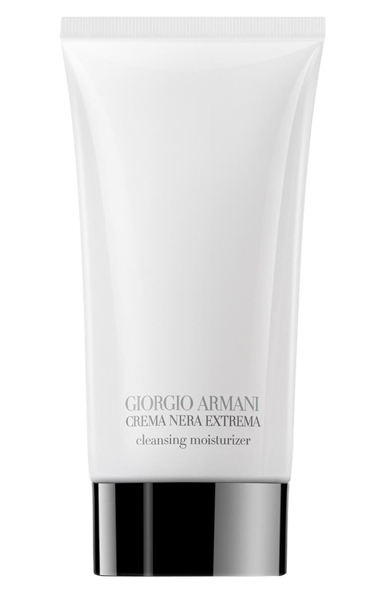 GIORGIO ARMANI Crema Nera Supreme Foam-in-Cream Cleansing Moisturizer, Main, color, NO COLOR