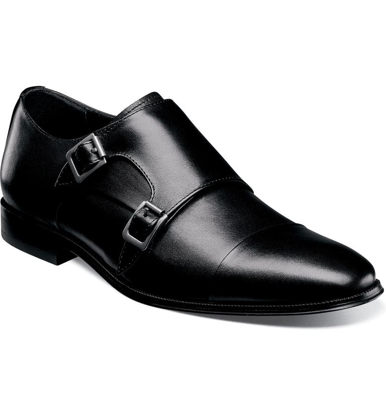FLORSHEIM Jetson Cap Toe Monk Shoe, Main, color, BLACK