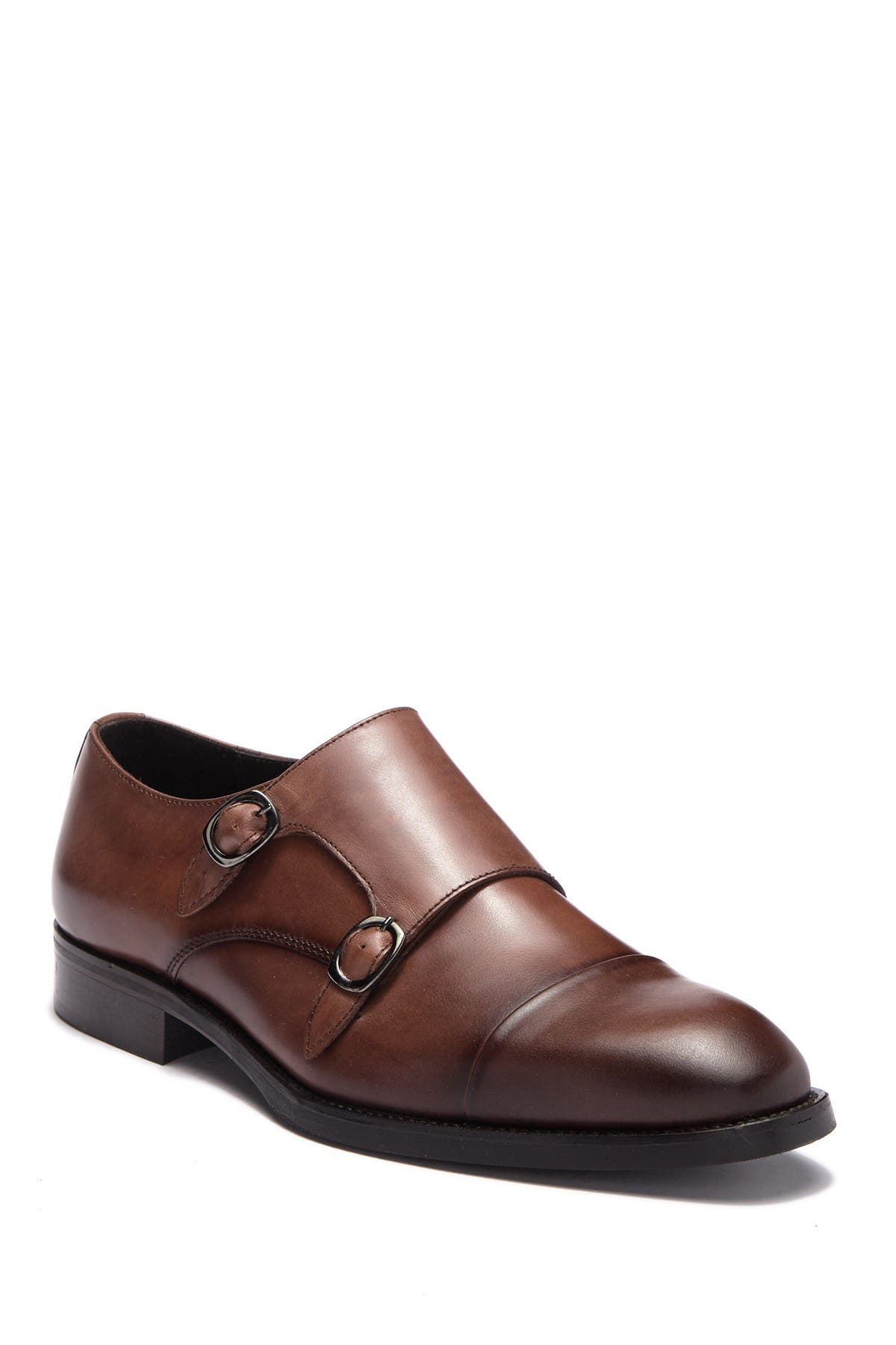 Barata Leather Double Monk Strap Loafer