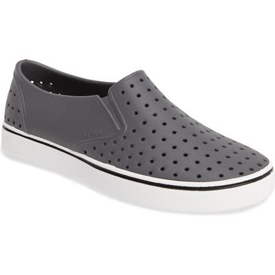 Native Shoes Miles Water Friendly Perforated Slip-On, Grey