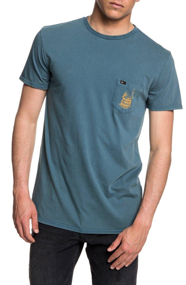 QUIKSILVER Gettin' Barreled Graphic Pocket T-Shirt, Main, color, 400