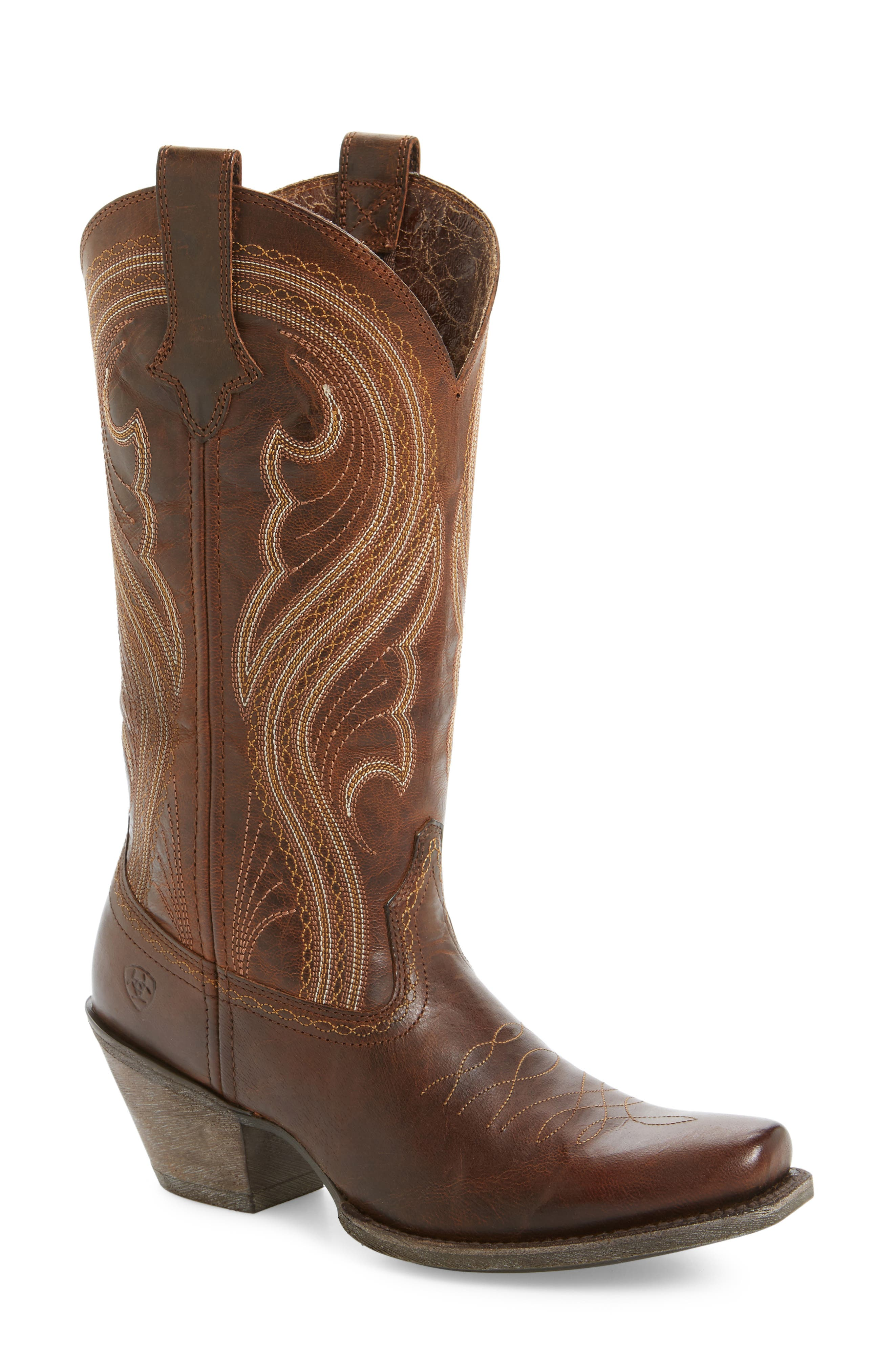 Lively Western Boot, Main, color, 200