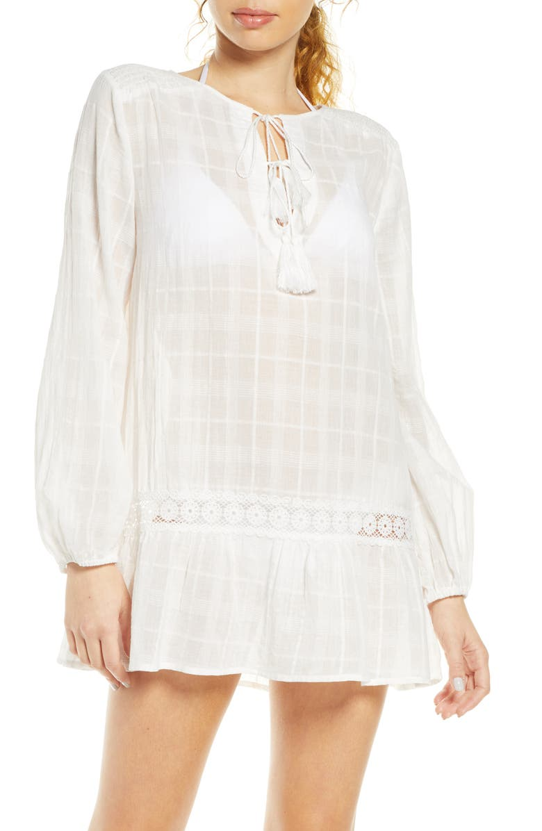 CHELSEA28 Easy Tunic Cover-Up, Main, color, IVORY