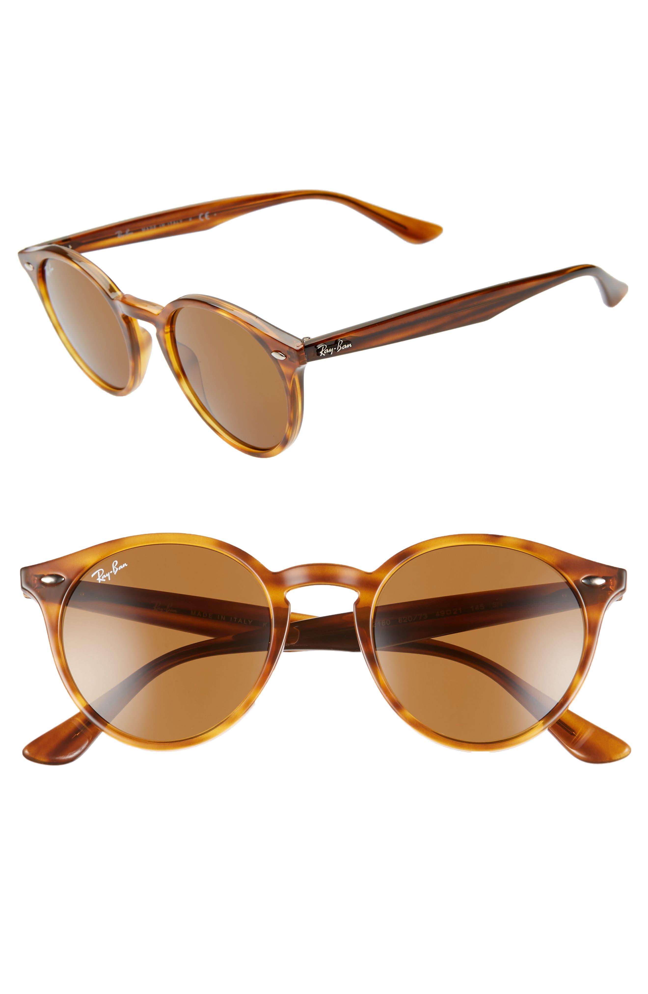 e40b877c9024 Ray-Ban Highstreet Round Sunglasses - Red Havana/ Brown Solid