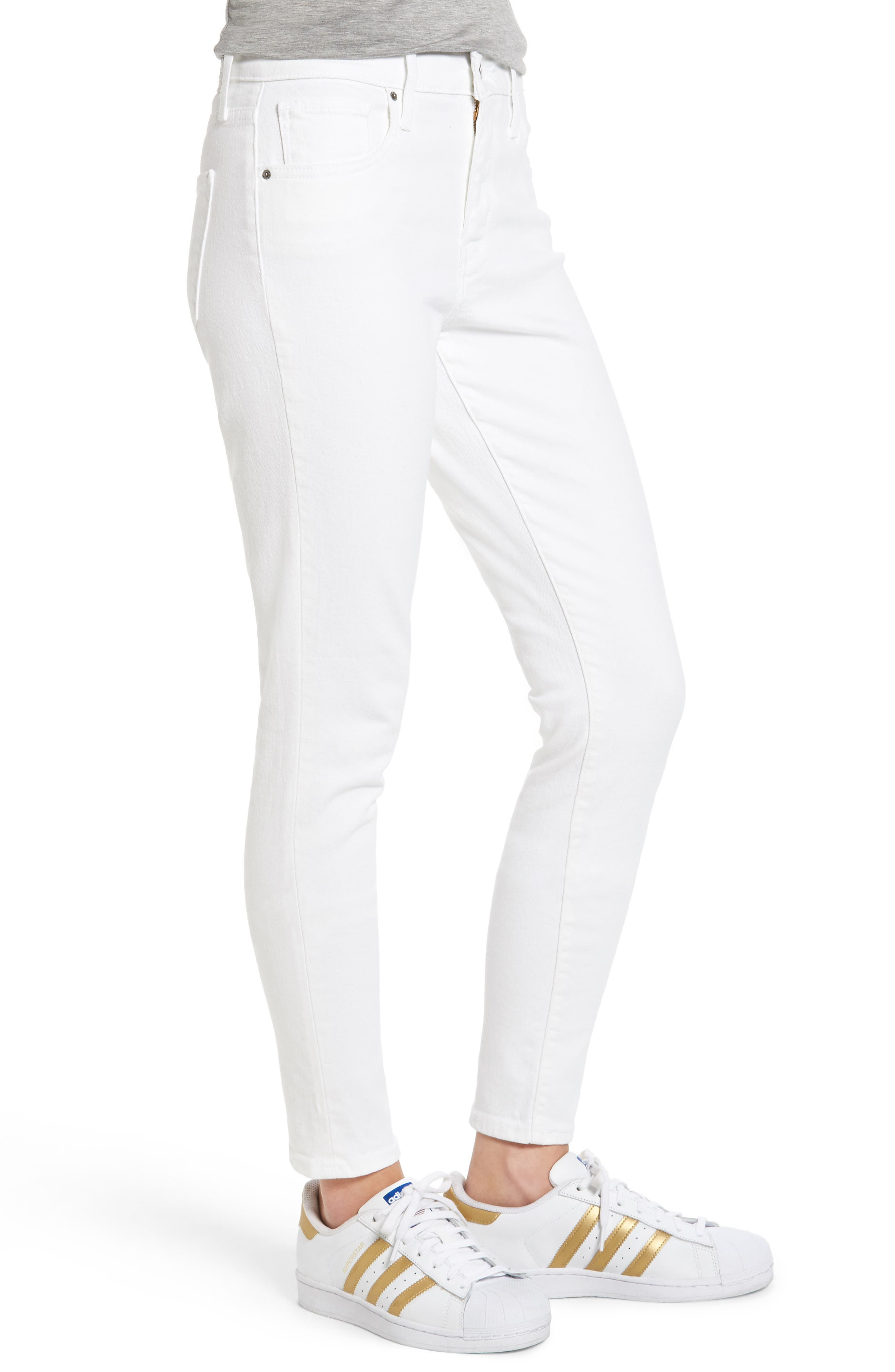 ,                             721 High Rise Skinny Jeans,                             Alternate thumbnail 3, color,                             100