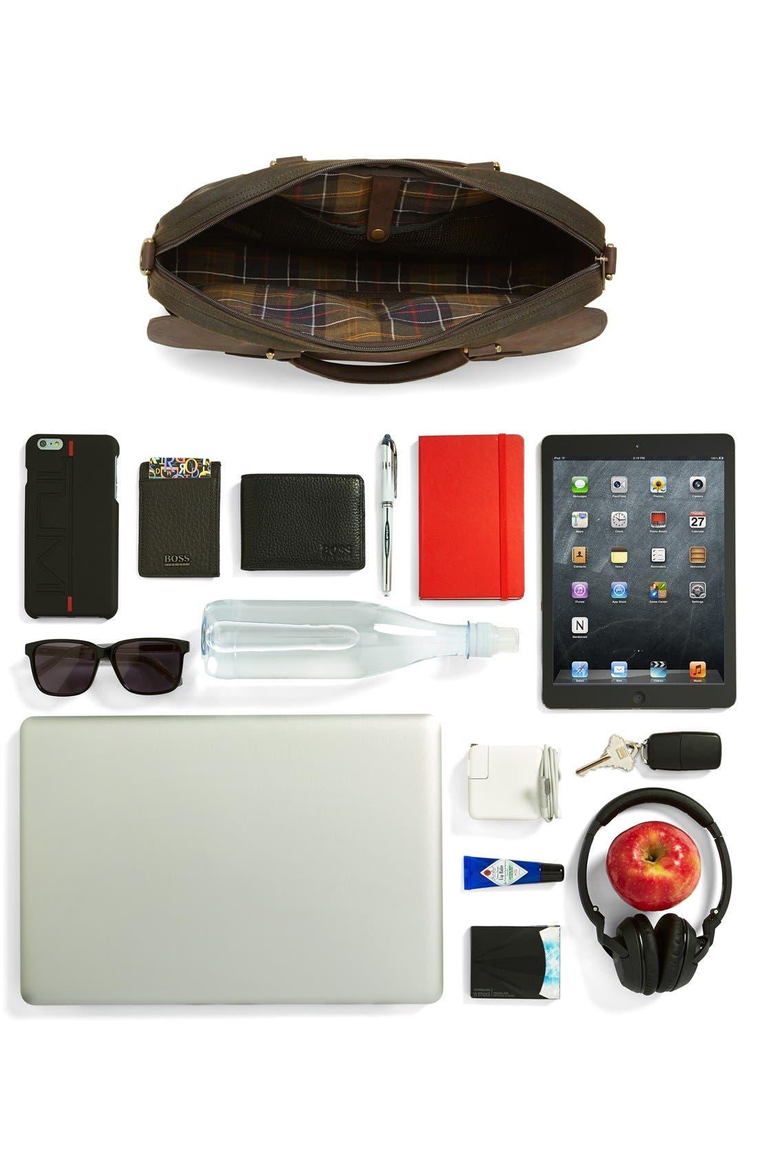 ,                             Waxed Canvas Briefcase,                             Alternate thumbnail 6, color,                             340