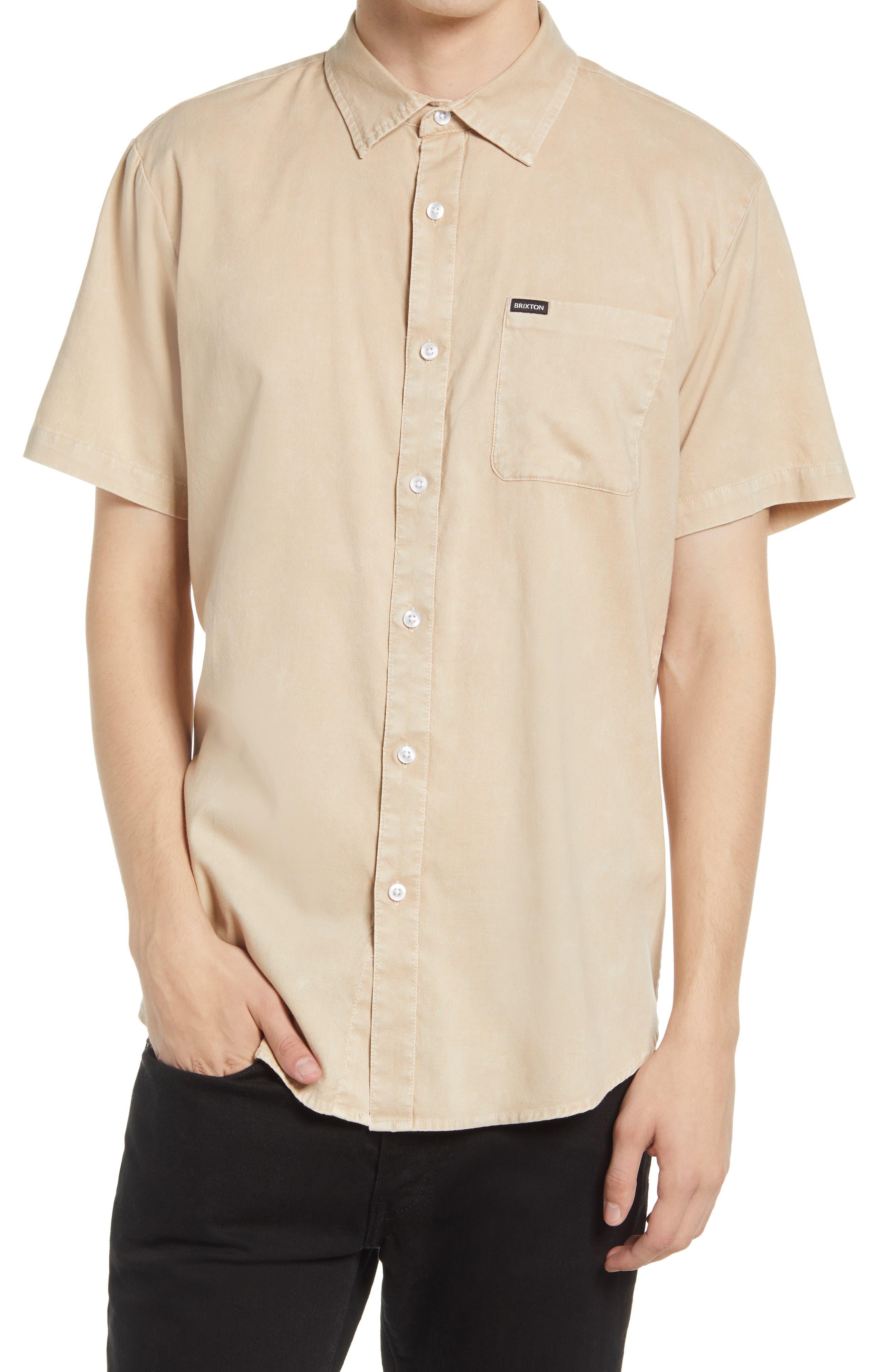 Charter Oxford Woven Short Sleeve Button-Up Shirt