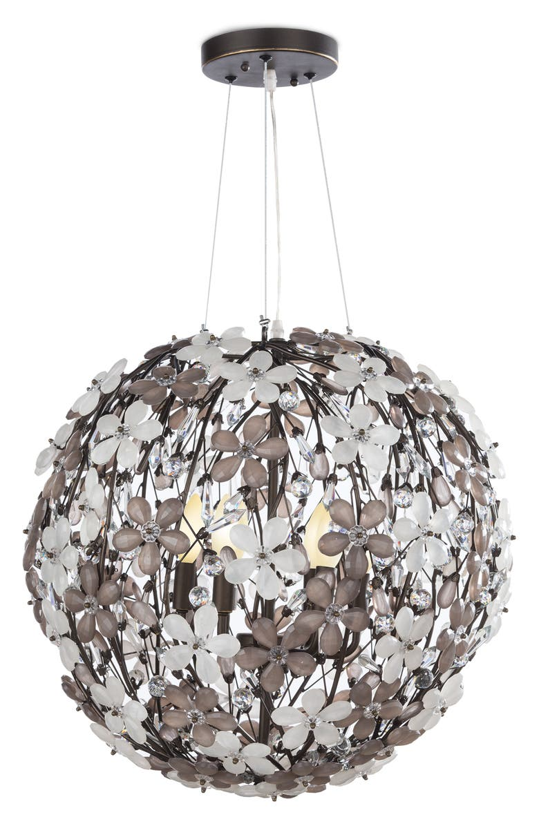 REGINA ANDREW DESIGN Cheshire Small Chandelier, Main, color, BLACK
