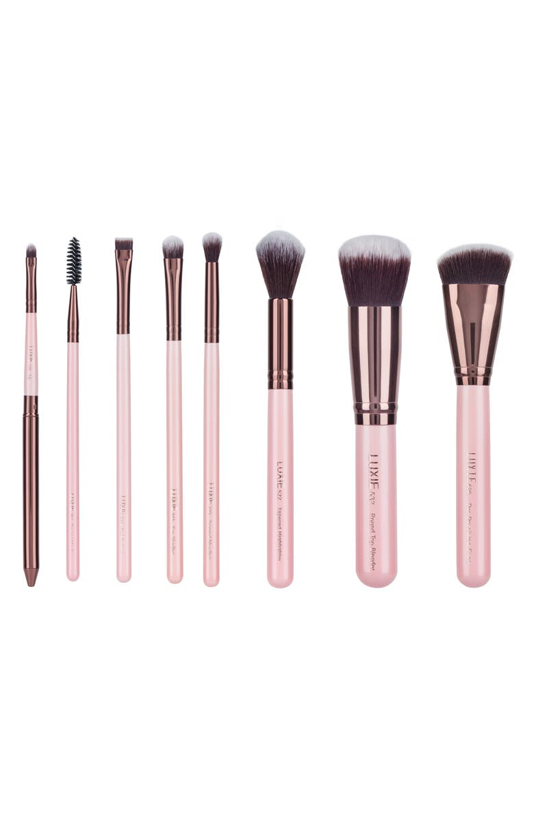 LUXIE Rose Gold Complete Face Brush Set, Main, color, 650