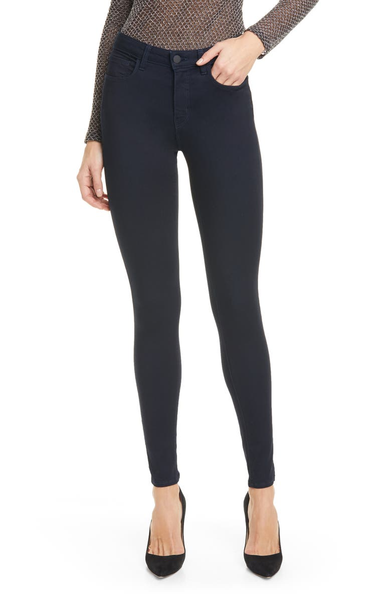 L'AGENCE Marguerite High Waist Skinny Jeans, Main, color, METRO