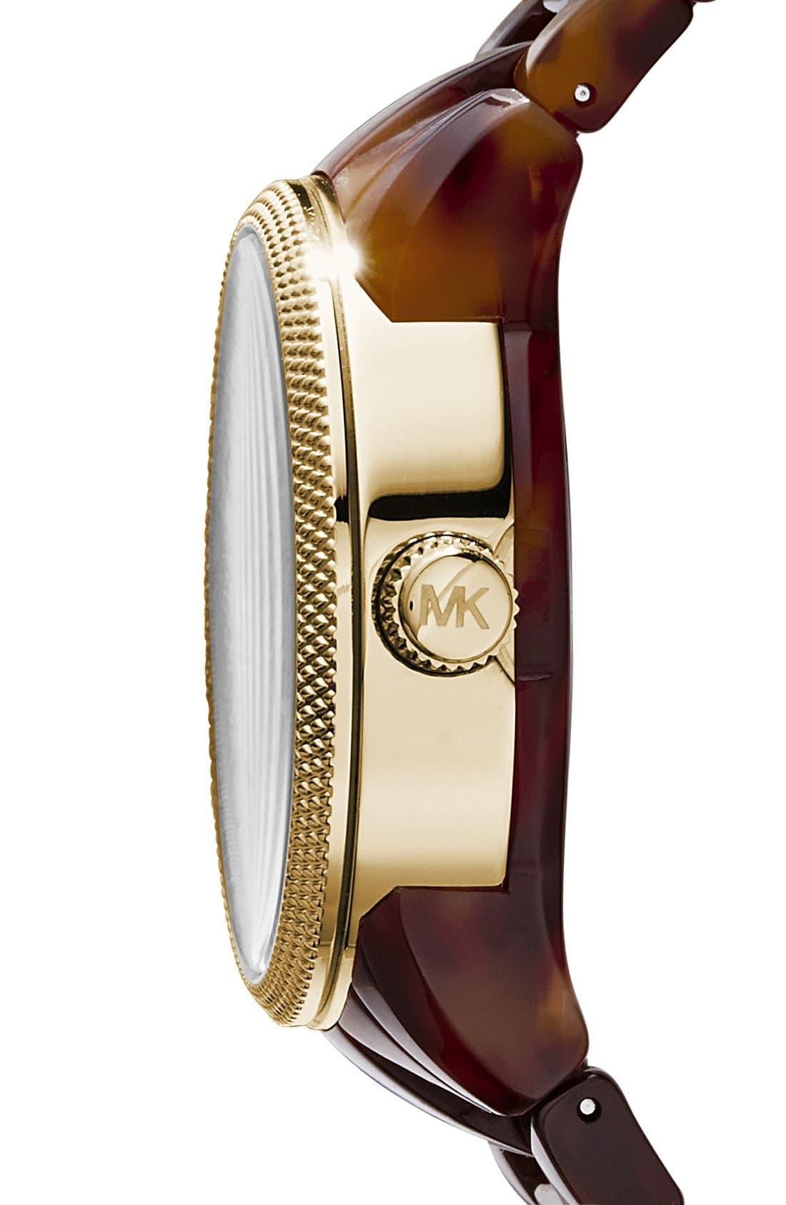 ,                             Michael Kors 'Jet Set' Bracelet Watch, 38mm,                             Alternate thumbnail 6, color,                             TOR