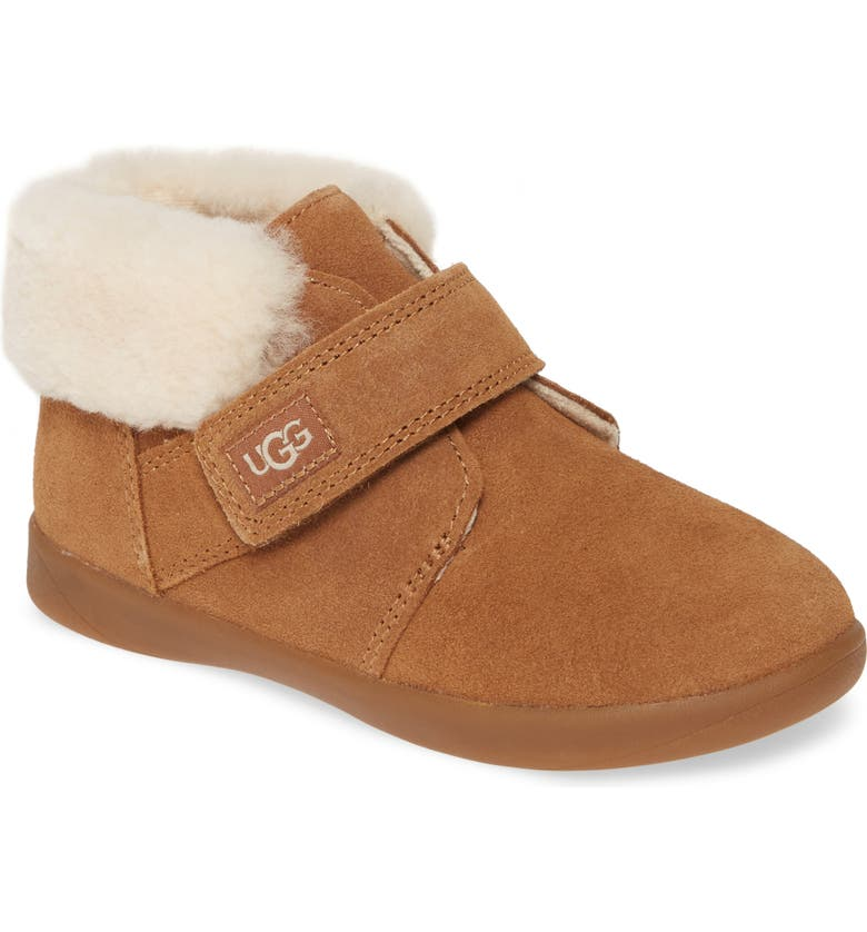 UGG<SUP>®</SUP> Nolen Genuine Shearling Boot, Main, color, CHESTNUT