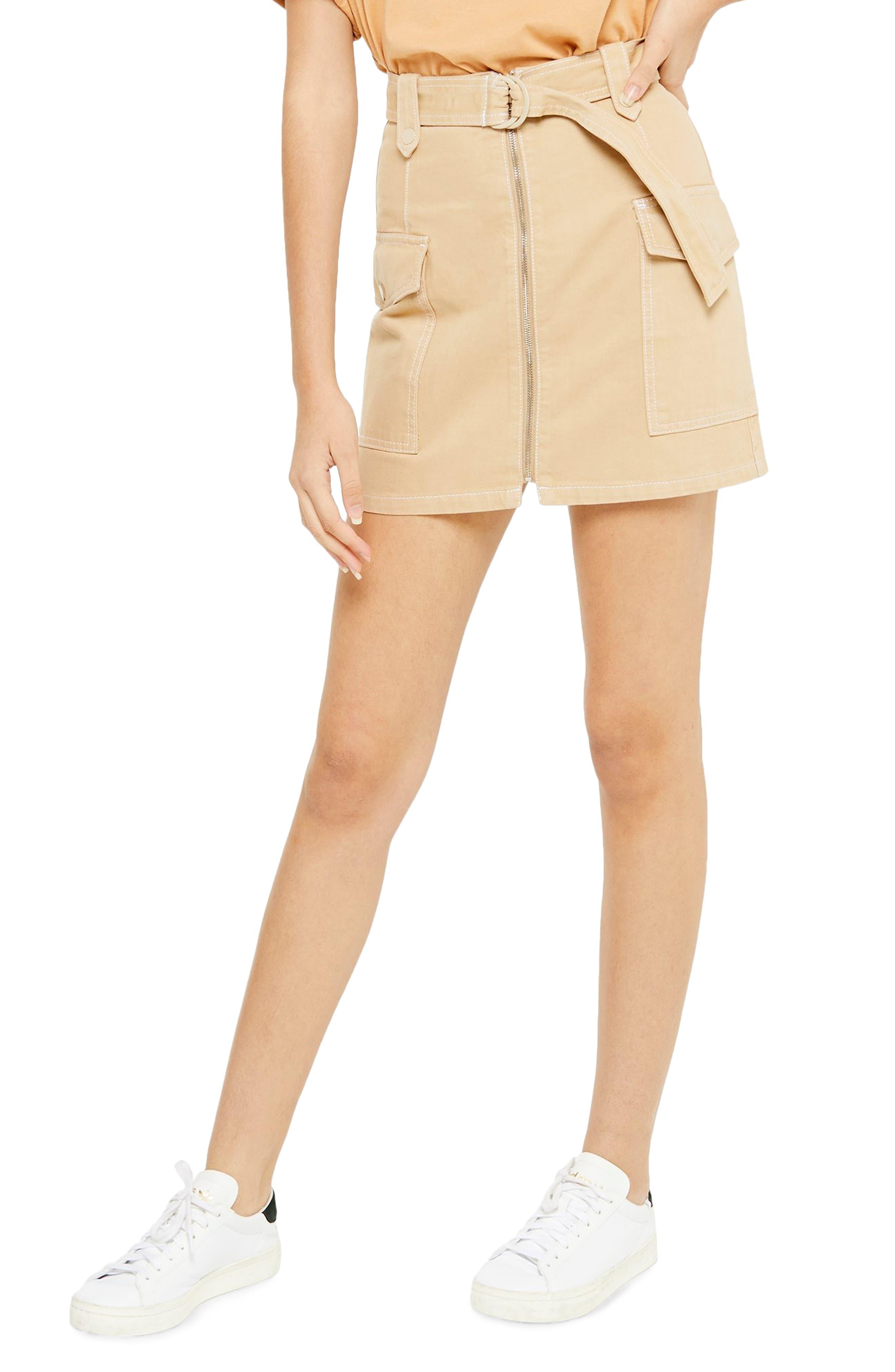 Topshop Belted Utility Skirt   Nordstrom