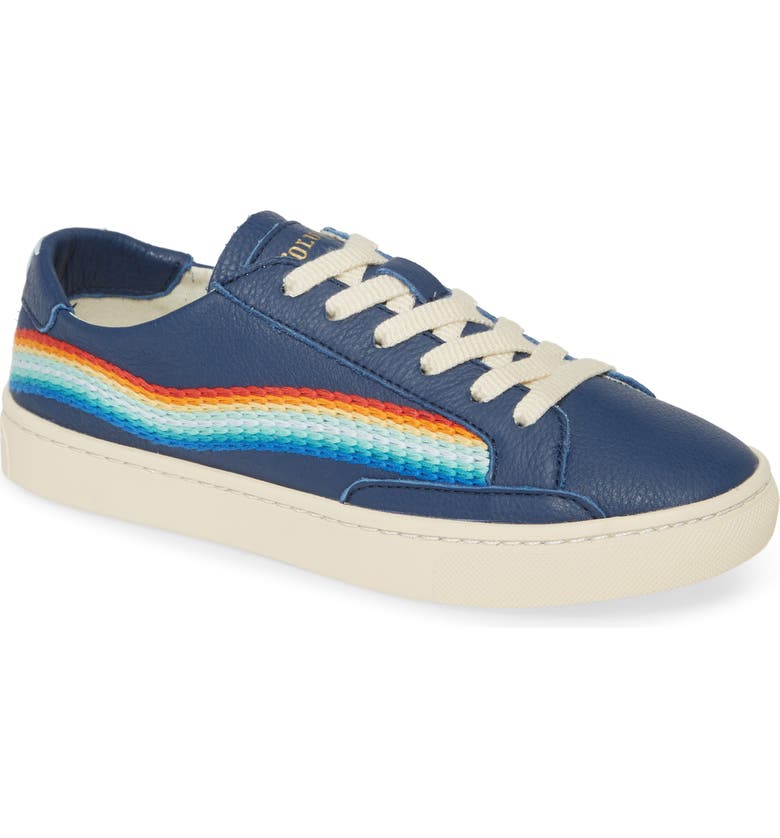 SOLUDOS Rainbow Wave Sneaker, Main, color, BLUE
