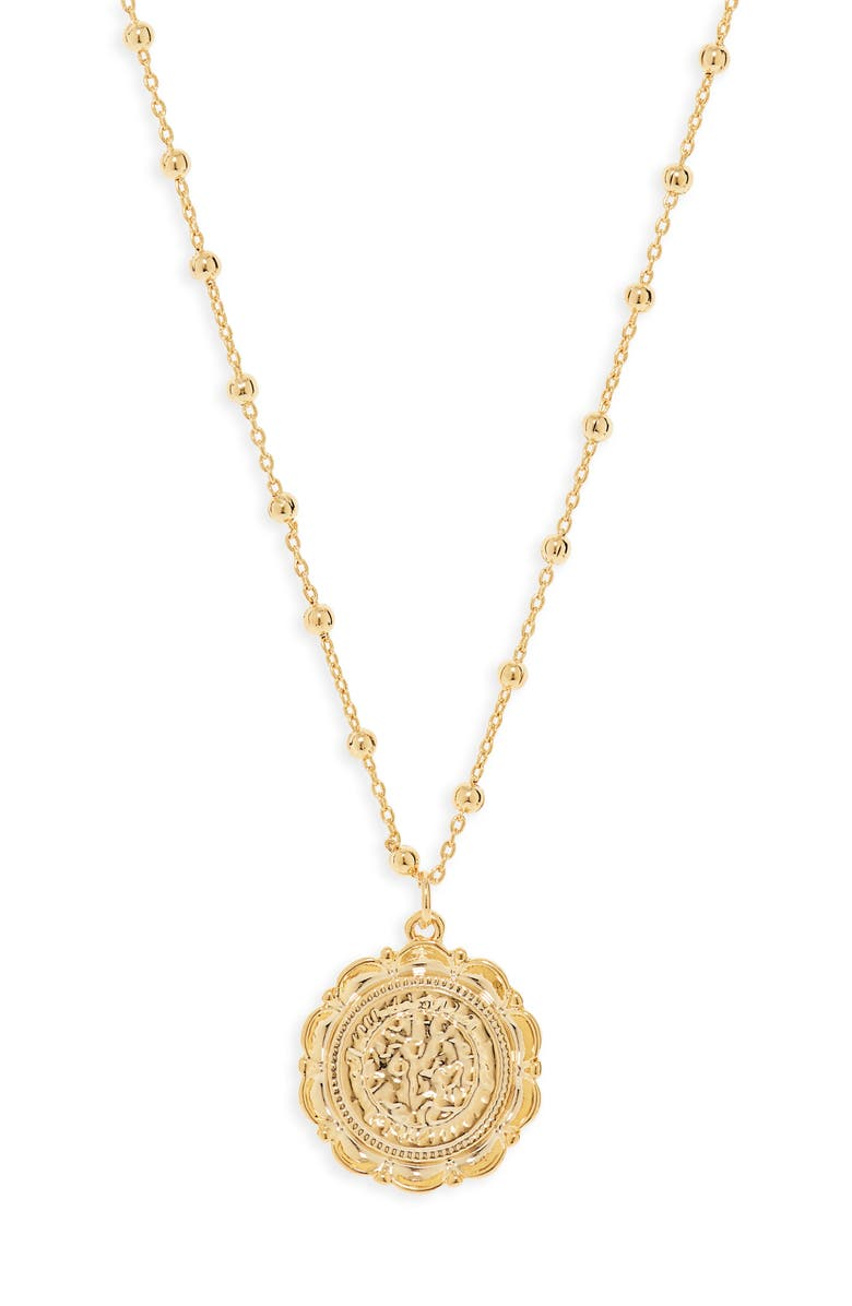 UNCOMMON JAMES BY KRISTIN CAVALLARI Atocha Coin Necklace, Main, color, GOLD