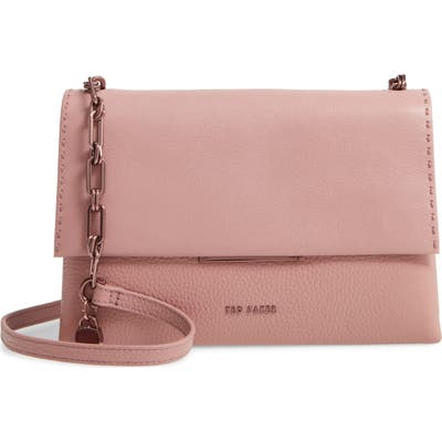 Ted Baker London Diilila Leather Crossbody Bag - Pink