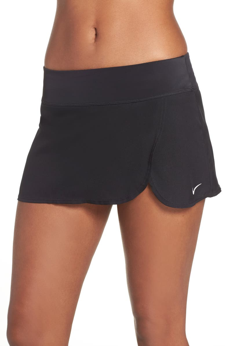 NIKE Swim Board Skirt, Main, color, BLACK