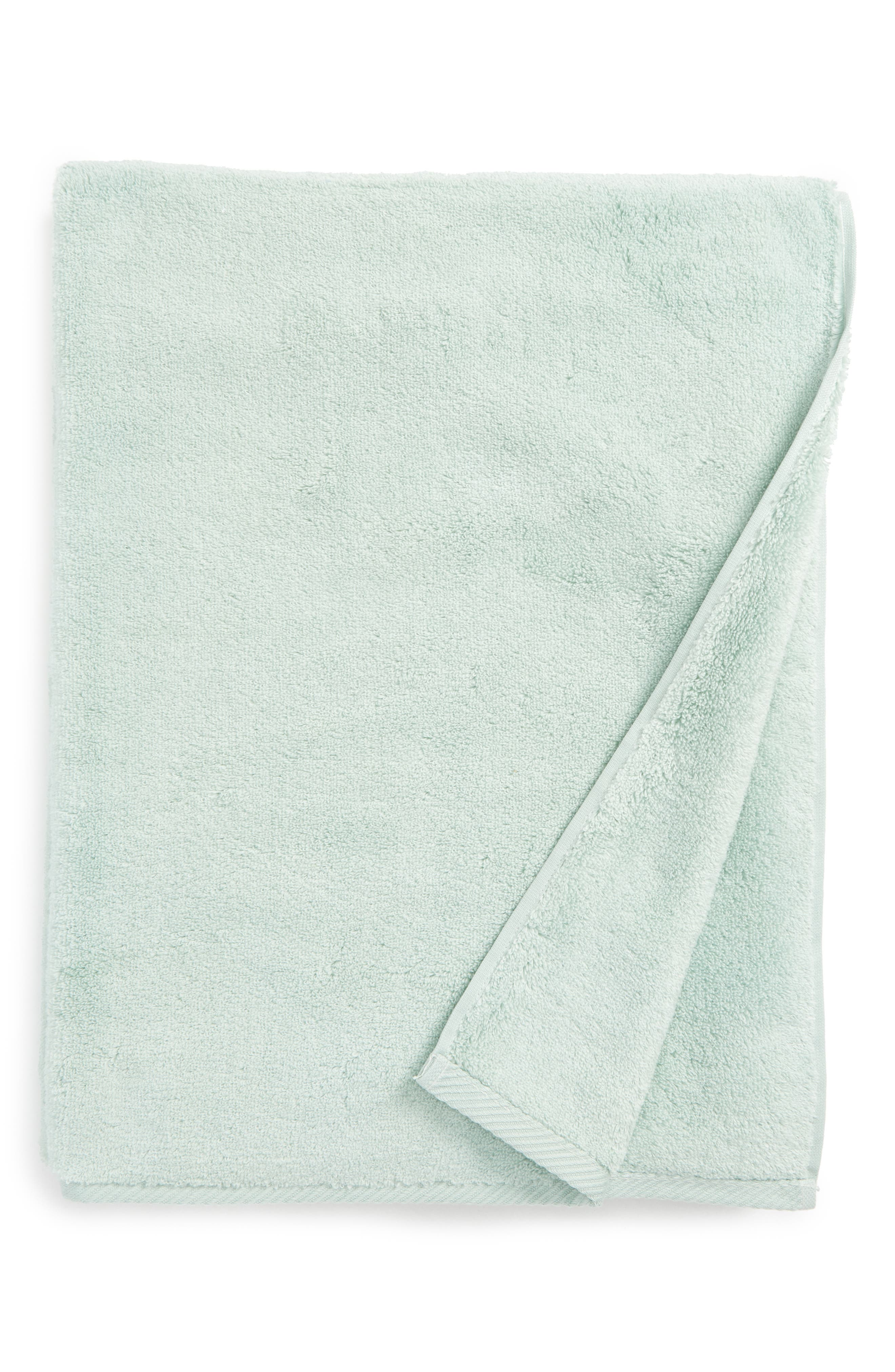 The ultrasoft Milagro towels and washcloths are made in Portugal from luxurious, long-staple zero-twist cotton, resulting in a miraculously lightweight towel that feels thick and plush. Style Name: Matouk Milagro Bath Towel. Style Number: 5431113. Available in stores.