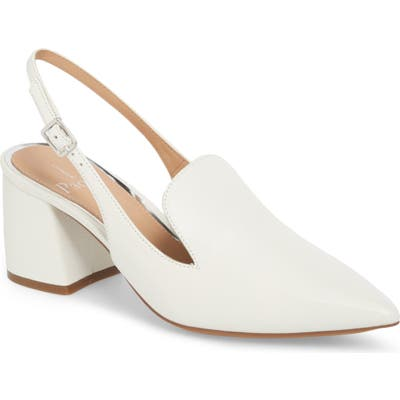 Linea Paolo Carly Slingback Pump, White