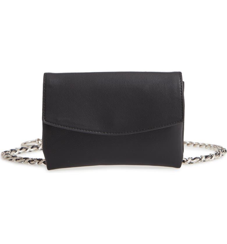 STEVE MADDEN Chain Belt Bag, Main, color, 002