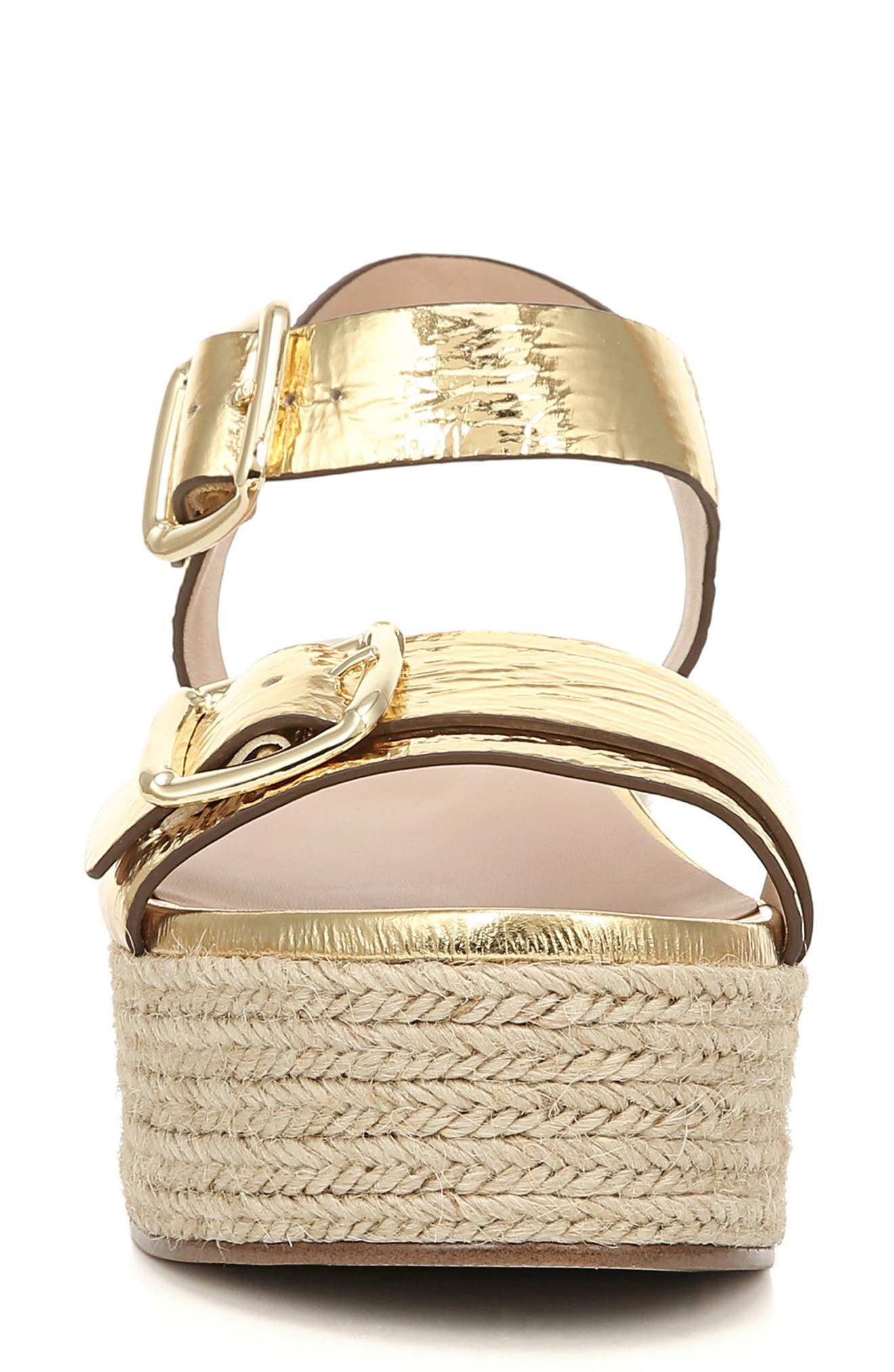 ,                             Jovana Espadrille Platform Sandal,                             Alternate thumbnail 5, color,                             GOLD LEATHER