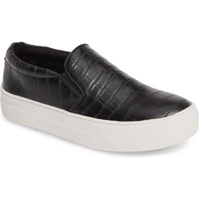 Steve Madden Gills Platform Slip-On Sneaker- Black