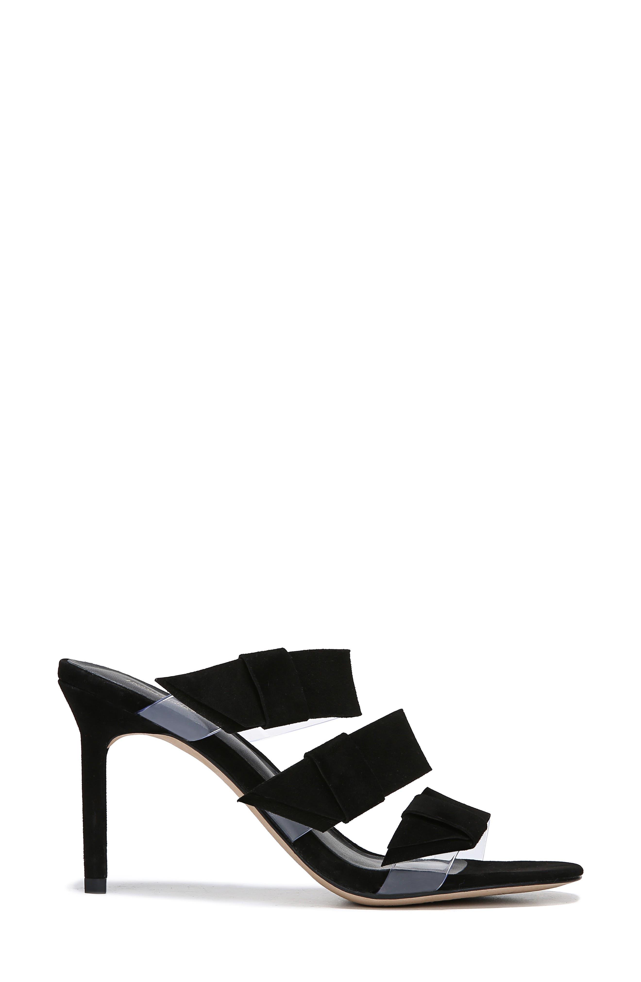 ,                             Amari Triple Strap Sandal,                             Alternate thumbnail 3, color,                             BLACK