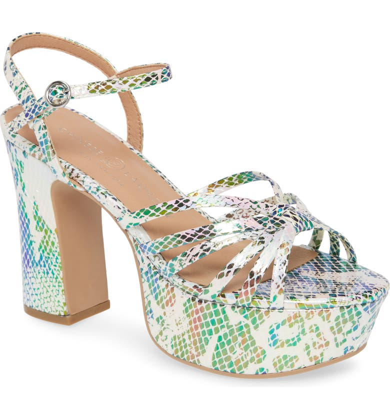 CHINESE LAUNDRY Strappy Platform Sandal, Main, color, OPAL MULTI FAUX LEATHER