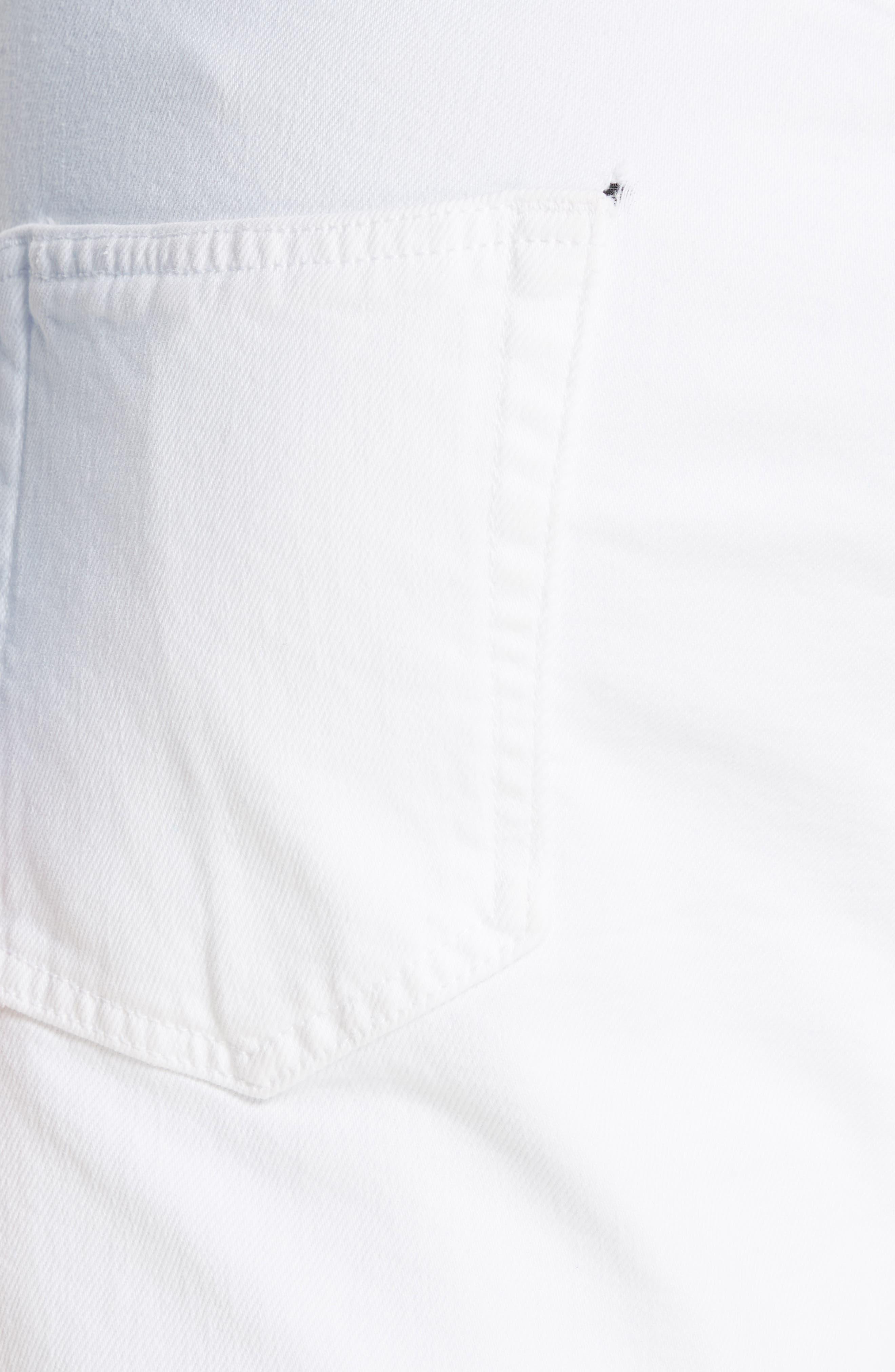 ,                             White Denim Pants,                             Alternate thumbnail 5, color,                             OPTIC WHITE