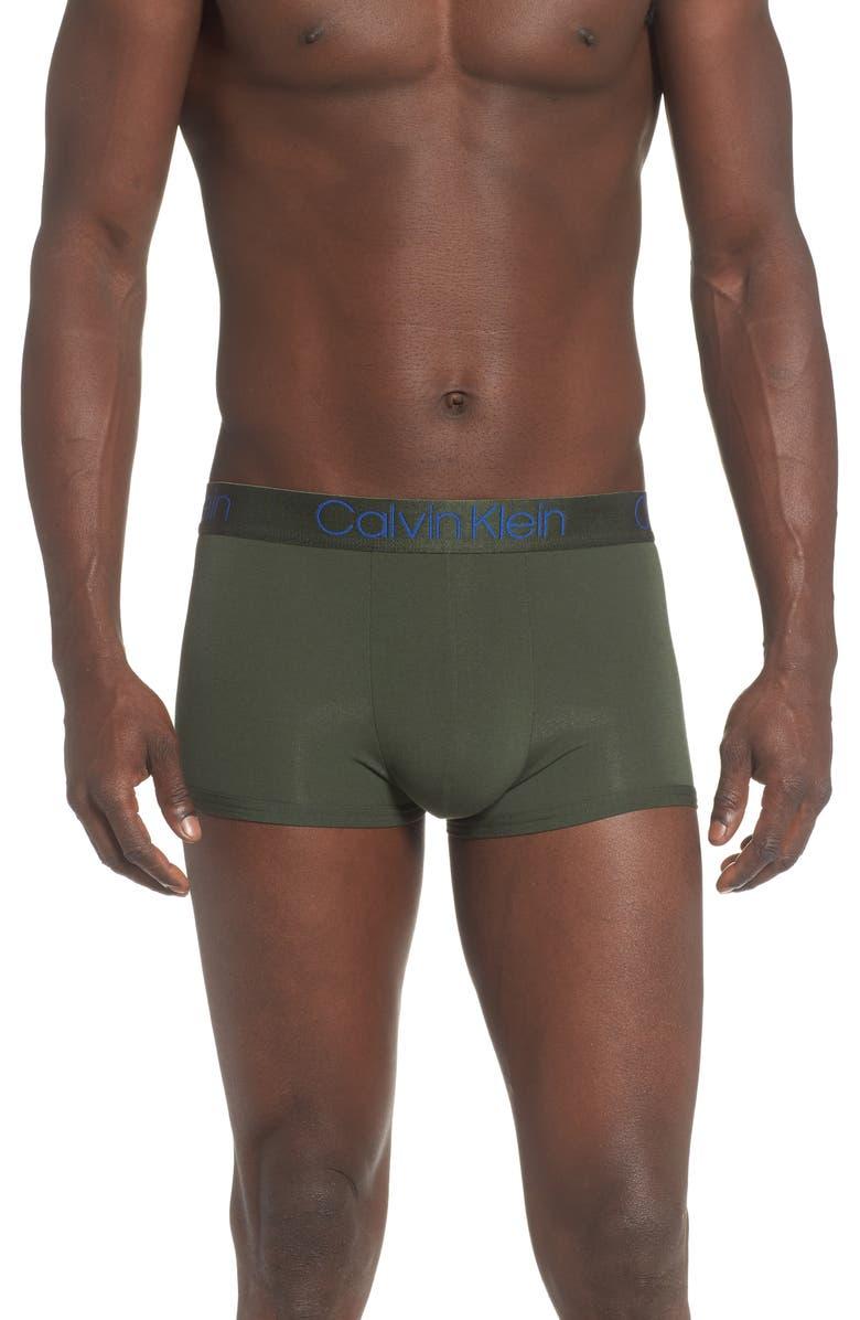 CALVIN KLEIN Ultrasoft Stretch Modal Trunks, Main, color, DUFFLE BAG/ ELECTRA