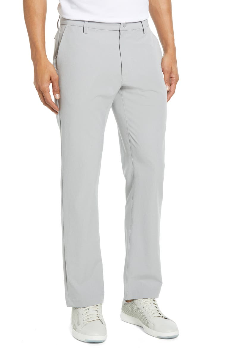 CUTTER & BUCK Bainbridge Straight Leg Performance Pants, Main, color, LIGHT GREY