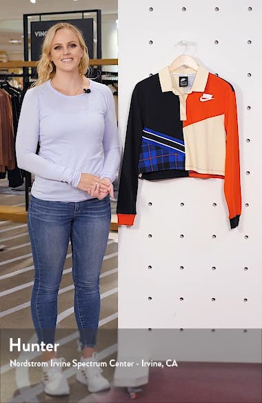 Sportswear Long Sleeve Crop Polo, sales video thumbnail