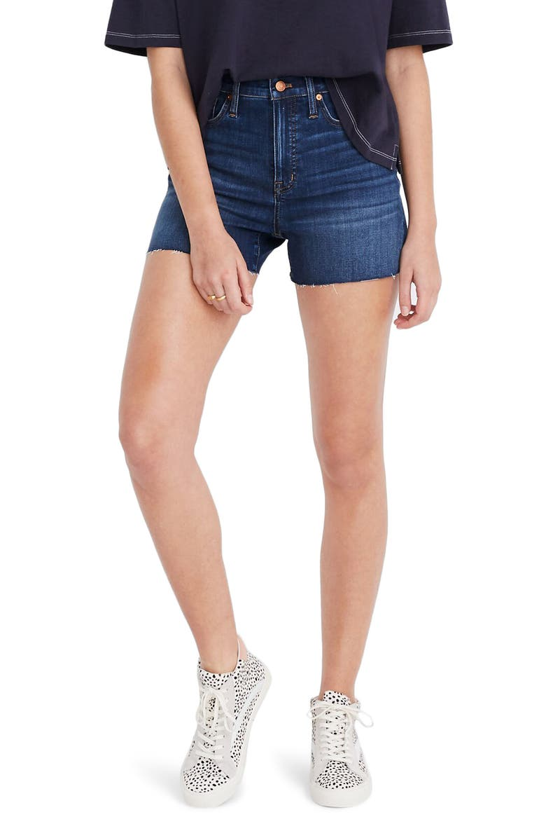 MADEWELL High Waist Denim Shorts, Main, color, DANNY WASH