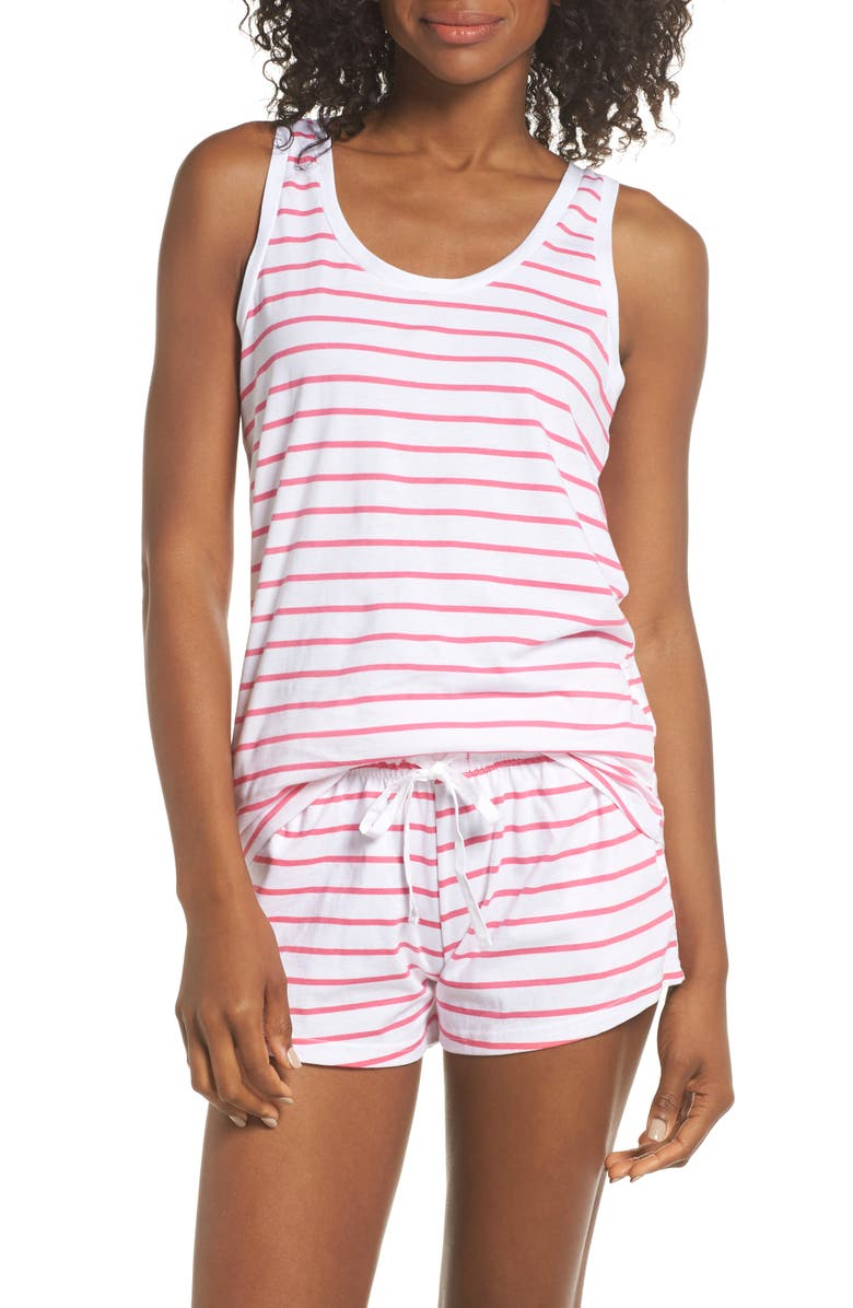 SANT AND ABEL Stripe Short Pajamas, Main, color, 670