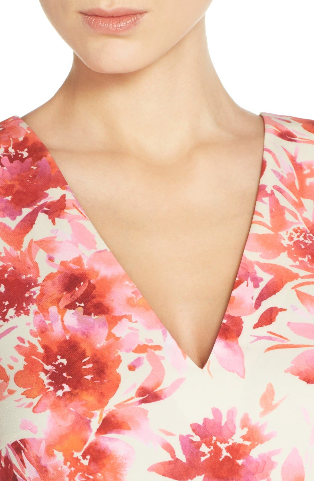 ,                             Bianca Back Cutout Fit & Flare Dress,                             Alternate thumbnail 76, color,                             668