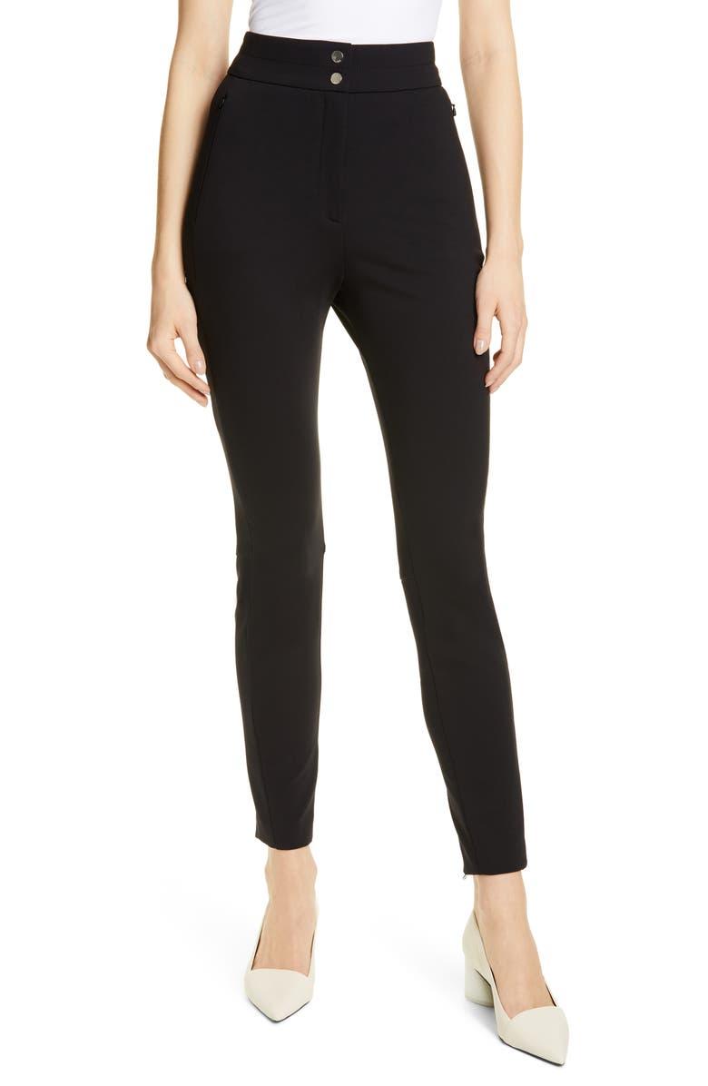 HUGO Hatini Zip Hem Pants, Main, color, BLACK