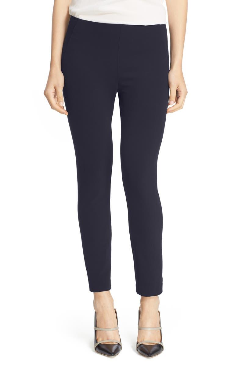 VERONICA BEARD Scuba Pants, Main, color, NAVY