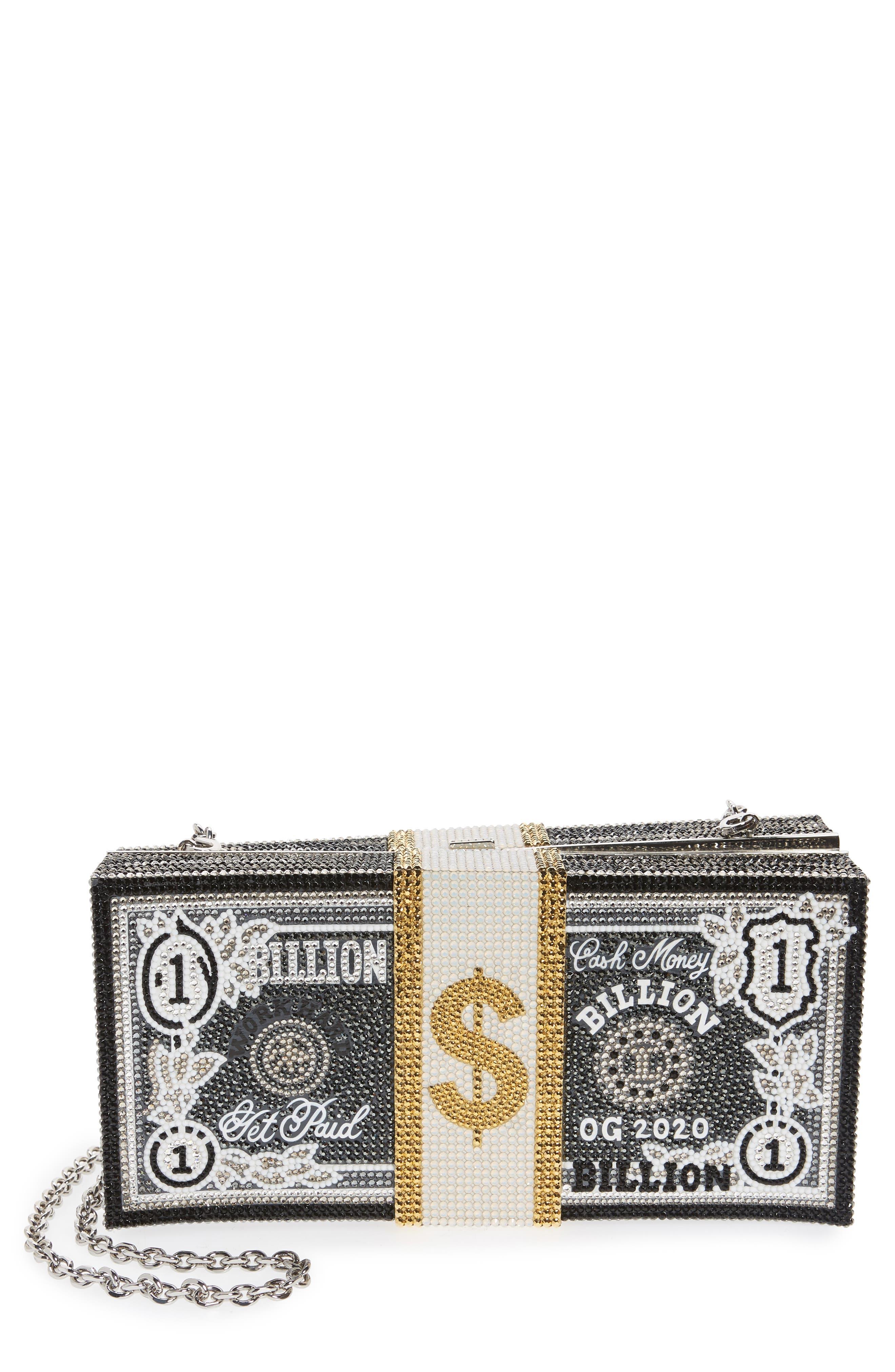 Stack Of Cash Billion Crystal Embellished Clutch