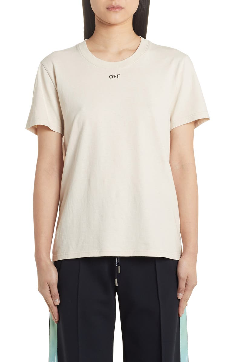 OFF-WHITE Flowers Carryover Casual Tee, Main, color, WHITE BORDEAUX