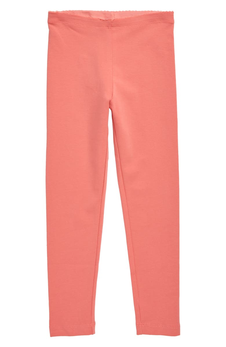 TEA COLLECTION Solid Leggings, Main, color, PINK TULIP