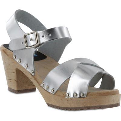 Mia Gertrude Platform Sandal, Metallic