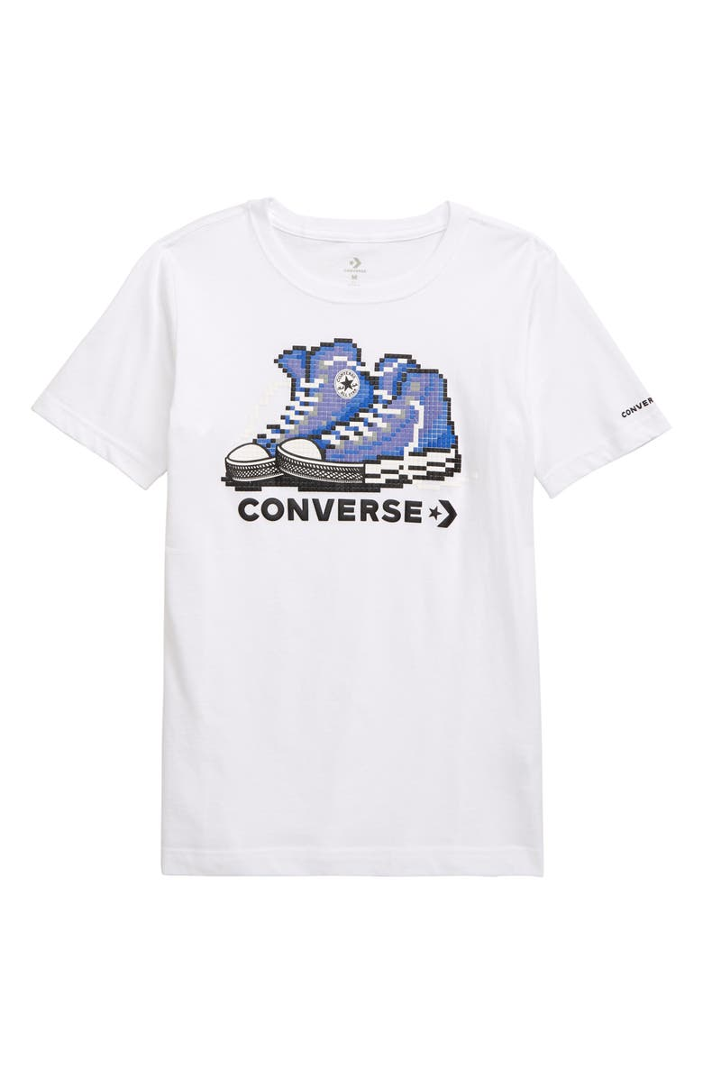 CONVERSE Pixel Chuck 2.0 T-Shirt, Main, color, WHITE