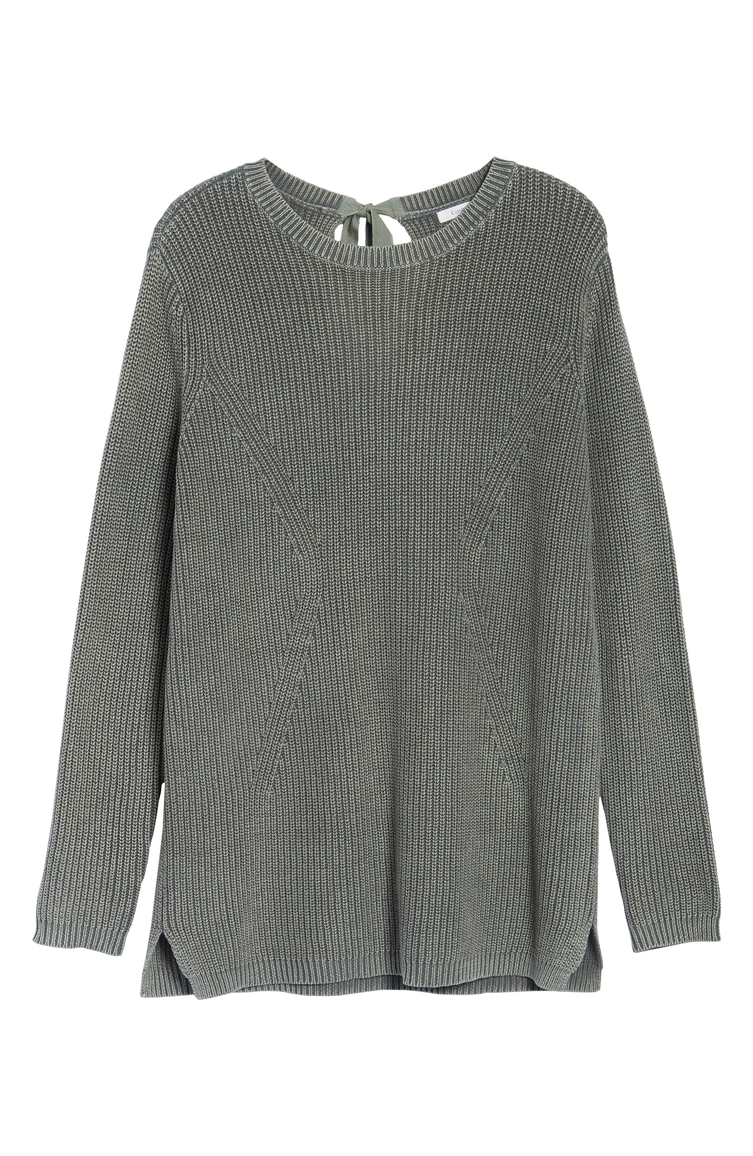 ,                             Tie Back Tunic Sweater,                             Alternate thumbnail 12, color,                             311