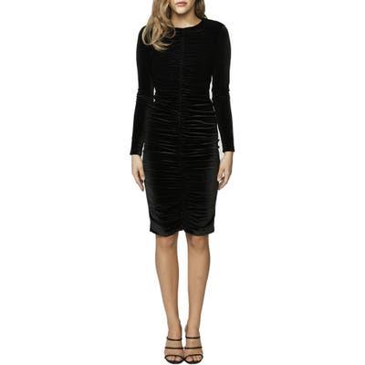 Bardot Karen Long Sleeve Velvet Dress