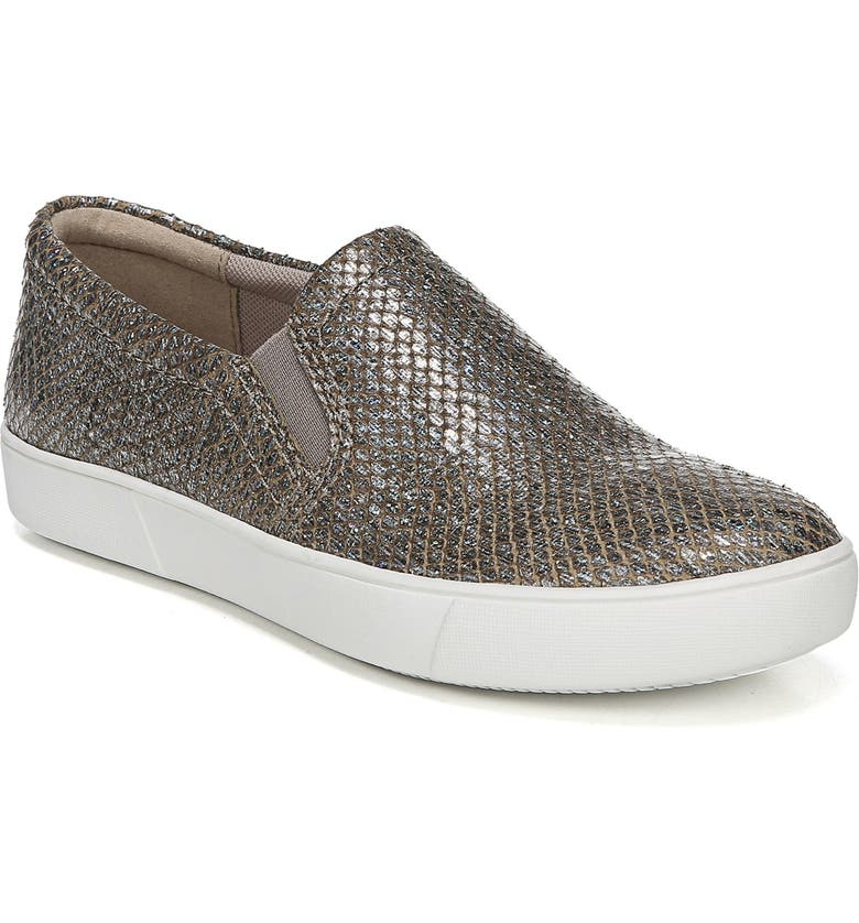 NATURALIZER Marianne Slip-On Sneaker, Main, color, PEWTER PRINTED LEATHER