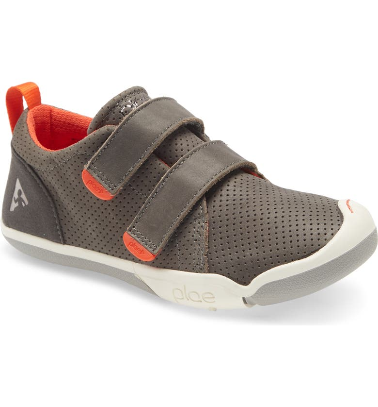 PLAE Roan Customizable Leather Sneaker, Main, color, MAGNETIC GREY
