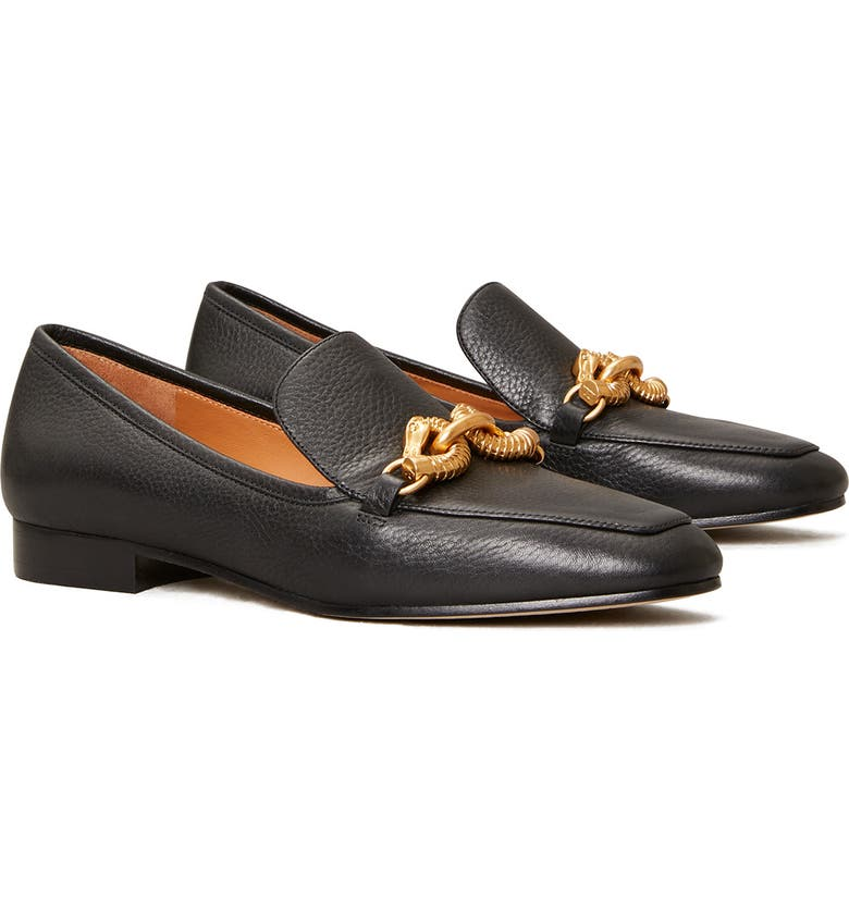 TORY BURCH Jessa Horse Hardware Loafer, Main, color, 002